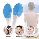 Spazzola da bagno elettrica, Massaggio per la pulizia del corpo Soft Long Handle Bath Spa Massage...
