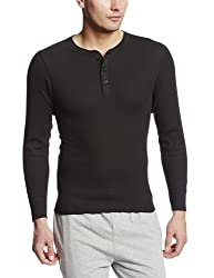 Hanes long sleeved thermal top black