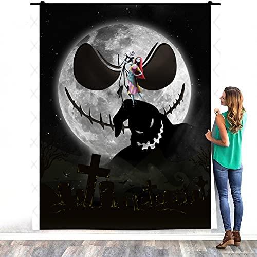 Zoko Apparel Jack Skellington Sally Colcha Pesadilla Antes de Navidad Manta de cama cálida – Decorar dormitorios hogar acogedora manta de felpa (127 x 152 cm)