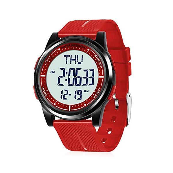 Beeasy Digital Watch Waterproof with Stopwatch Alarm Countdown Dual Time, Ultra-Thin...