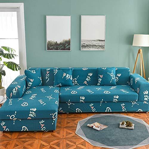 Funda de sofá nórdica, Juego de algodón, Funda de sofá, Funda de sofá elástica para Sala de Estar, sofá Chaise Longue en Forma de L A7, 1 Plaza