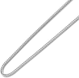 Piccoli Tesori - Collana Catena 14 ct Oro Bianco Larghezza 1mm Scatola (Lunghezze disponibili 40 CM, 45 CM)