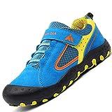 Mishansha Zapatos de Deportivos para Niño Niña Respirable Malla Zapatillas Running Antideslizante Goma Resistentes al Desgaste Plano Casual Zapato Ligeras Suave Unisex Calzado, Azul 32