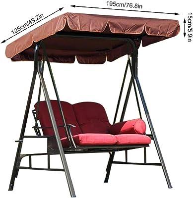 Enjoyable Amazon Com Outsunny 3 Person Canopy Porch Swing Black Inzonedesignstudio Interior Chair Design Inzonedesignstudiocom
