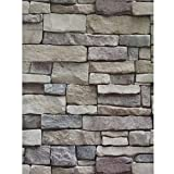 ODS Brick Wallpaper Peel and Stick 17.71'x 236.22' Self-Adhesive Stone Textured Faux Brick Wall Paper Home Decoration Removable Waterproof Wall Covering Wallpaper for Bedroom Kitchen Backsplash