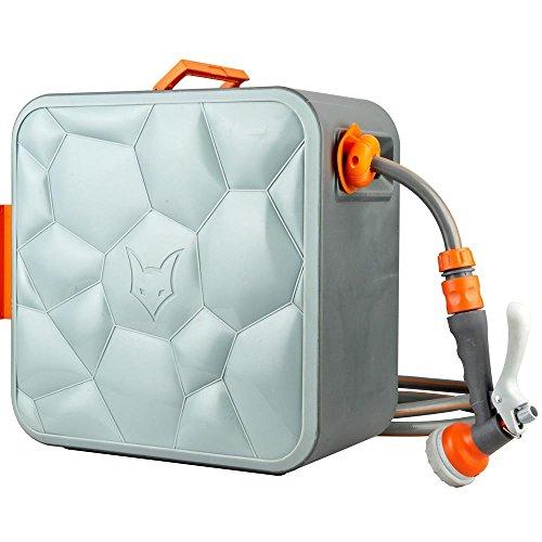 Fuxtec Wasserschlauch Aufroller FX-CU30 mit 30 m und 1/2 Zoll Anschluss automatischer Schlauchaufroller Schlauchtrommel Wasserschlauchtrommel für Wand Montage Cube getestet in der Oberklasse Note 1,3
