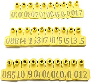 ZHENWOFC 100Sets Yellow Animals CattleGoat Pig Pecora Usa Numero Etichetta Tag Etichette di bestiame componenti hardware