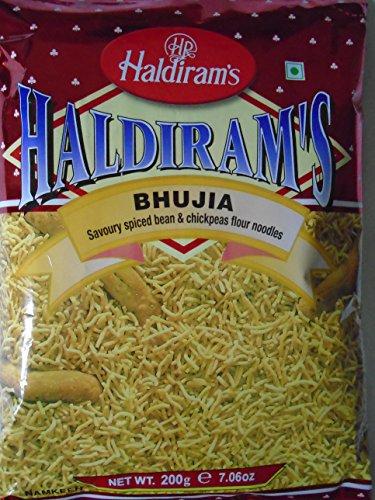 3x Haldiram's Bhujia 200g mild gewürzte Nudel aus Bohnen und Kichererbsenmehl