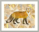 Framed Wall Art Print Red Fox Collage I by Nikki Galapon 30.25 x 25.50 in.