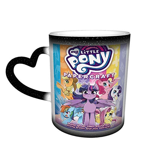 XCNGG My L-it-tl-e P-o-n-y Rainbow Dash Heat Changing Coffee Mug Color Changing Cup Ceramic Coffee Latte Mug in The Sky Valentine's Day Gift