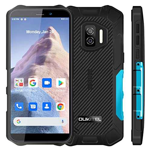 OUKITEL WP12 Outdoor Smartphone Ohne Vertrag, Android 11 Outdoor Handy, 4G Dual SIM, 4GB RAM 32GB ROM, Global Version, 5,5 Zoll, 4000mAh, IP68/IP69K Wasserdichter, NFC/OTG/GPS, Blau