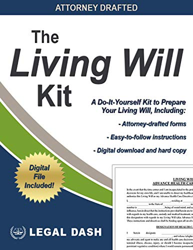 Living Will Kit and Medical Power of Attorney Forms – Hard Copies and Digital Downloads – Do It Yourself Living Will Forms, Living Will and Power of Attorney for Healthcare Kit