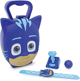 Jamara Juego de 4 Piezas, Pulsera Catboy para Verdaderos héroes Pijama, Lanzador de Pelotas, maletín Estable y manejable, diseño de máscara PJ Masks, Color Azul (410105)