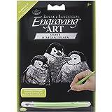 ROYAL BRUSH Silver Foil Engraving Penguin Chicks Art Mini Kit, 5' by 7'