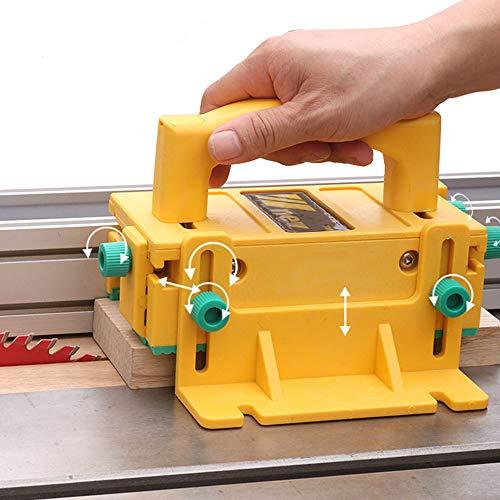 Klapptischsäge Fräshobel Sägenschieber 3D Drückblock für Tischsägen Holzbearbeitung Sicherheitsassistent Werkzeugblock Smart Hook Pushblock für Frästisch, Fugen- und Bandsägen