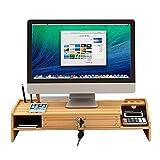 Compuer, supporto verticale per monitor con cassetto, con cassetto, per computer portatile, schermo