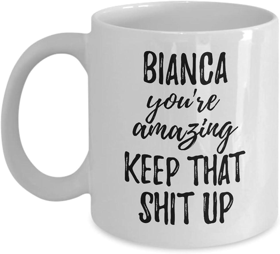 Bianca Mug You're Amazing Keep That Motivation Topics on TV Custom Shit Up Sale Na