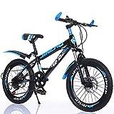 FXPCYGZ Bicicleta Frenos de Doble Disco Velocidad Bicicleta de montaña Coche para Estudiantes Adultos Hombres y Mujeres, 22 Pulgadas Marco de Acero de Alto Carbono Neumáticos de Goma(Blue)