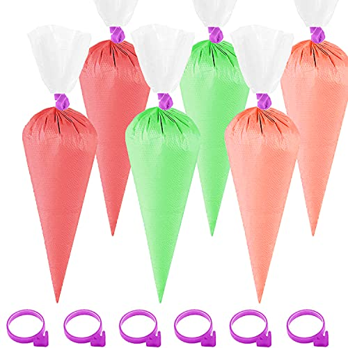 SAILING-GO 100 PCS 14 Inch Thickened Piping Bags Disposable Pastry Bag Icing Bag Cake Cupcake Decorating Bags with 6 Bag Ties for Icing Tips Couplers Baking Cupcakes Cookies Supplies Tools