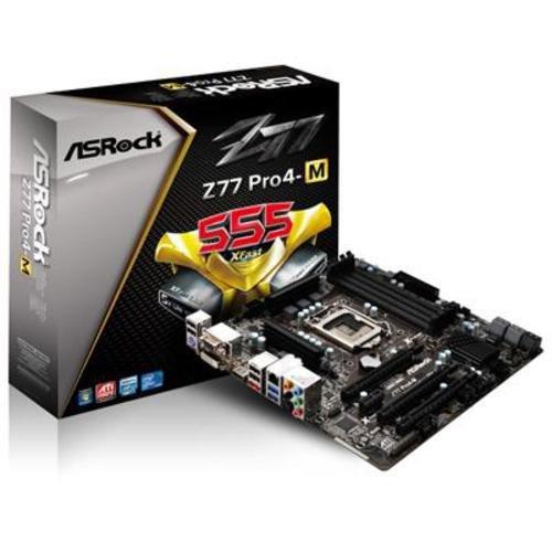 ASRock LGA1155 Intel Z77 Quad CrossFireX SATA3 USB3.0 A GbE MATX Motherboard Z77 PRO4-M
