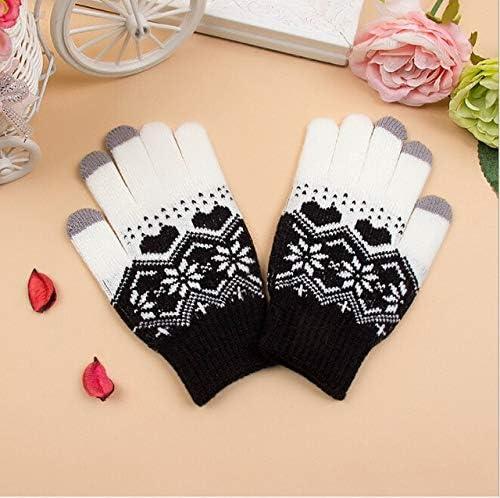 Fashon Warm Touch Screen Soft Wool Winter Gloves Autumn Women Warmer Mittens Hot - (Color: Black)