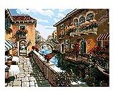 Ancient town 15D diamond painting art full diamond set, kit de punto de cruz decoración del hogar 40x50cm