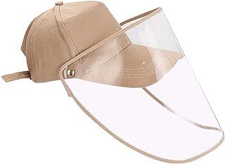 Chapeau Anti-salive r/éutilisable Capuchon sup/érieur Vide /écran Solaire Anti-salive visi/ère de Plage Anti-bu/ée YTFU Casque de Protection Transparent