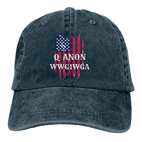 Hoswee Baseballmütze Hüte Kappe Q ANON WWG1WGA Unisex Truck Baseball Cap Adjustable Hat Military Caps