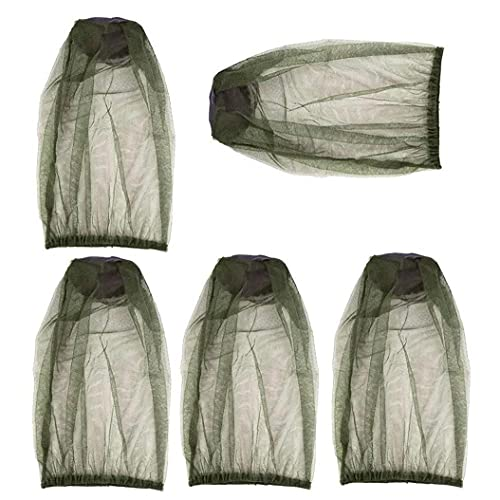 Malla de la Cara de la Cabeza de la Cabeza, la Cubierta de la Cabeza de la máscara del Sombrero de Mosquitos Premium para el Camping Senderismo Pesca Protección