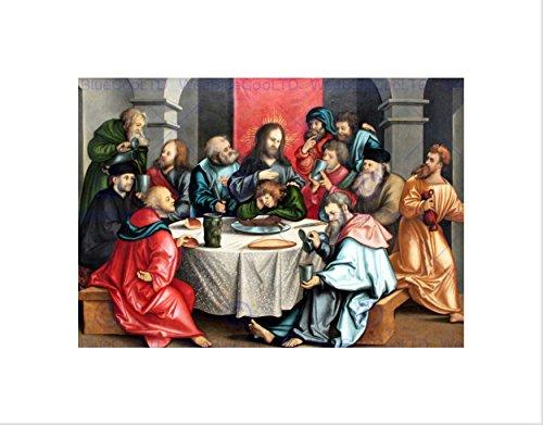 Painting Group Portrait Jesus Dinner Table Black Framed Art Print B12X7375