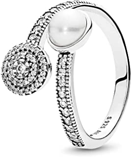 Luminous Glow, White Crystal Pearl and Clear CZ 191044CZ