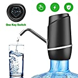 5 Gallon Water Dispenser,Electric Drinking Water Pump Portable Water Dispenser Universal USB Charging Water Bottle Pump For 2-5 Gallon With 2 Silicone