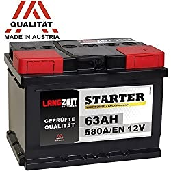 LONG TERM car battery 12V 63Ah replaces 60Ah 54Ah 55Ah 56Ah 62Ah 65Ah