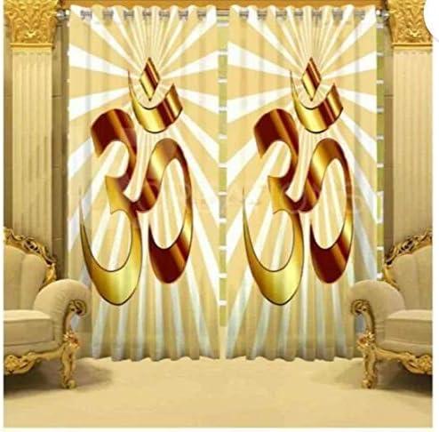 Harshika Home Furnishing Polyresin Grommet Door Curtain, 7 Feet, Multicolour, Pack of 1