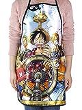 CoolChange Tablier avec Le thème de One Piece: L'Equipage du Chapeux de Paille