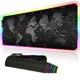 Cmhoo XXXL Gaming Mouse Pad RGB Keyboard Pad Large Glowing Led 35.4x15.7IN 3MM Thick Non-Slip Desk Pad - 90x40 FGditu