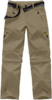 Sobrisah Kids Girl's Outdoor Lightweight Quick Dry Convertible Hiking Fishing Pants Cargo Trousers