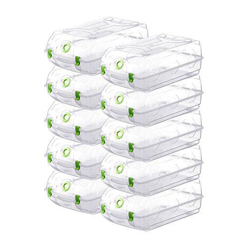 Lijuan Dimensioni Grandi Cristalli Scatola Trasparente Scatola Delle Scarpe Che Ricevono Il Riquadro 10,Green 10 Solo