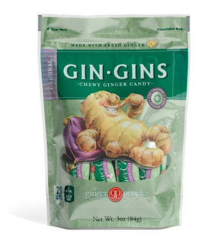 The Ginger People Ginger Chews, Original, 3-Ounce Bags (Pack of 24)