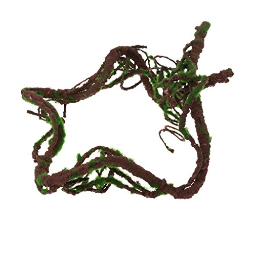 Baoblaze Reptiles Decoración Terrario Vid Complimentos Enredaderas Flexibles de Selva Cómodo - M