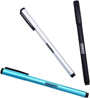 Pluma estilogr/áfica punta mediana, tinta giratoria, color negro y /ámbar, 1 unidad PassBeauty FuliWen