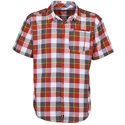 Salomon Equation Chemises Hommes Blanc/Gris/Rouge - S - Chemises Manches Courtes