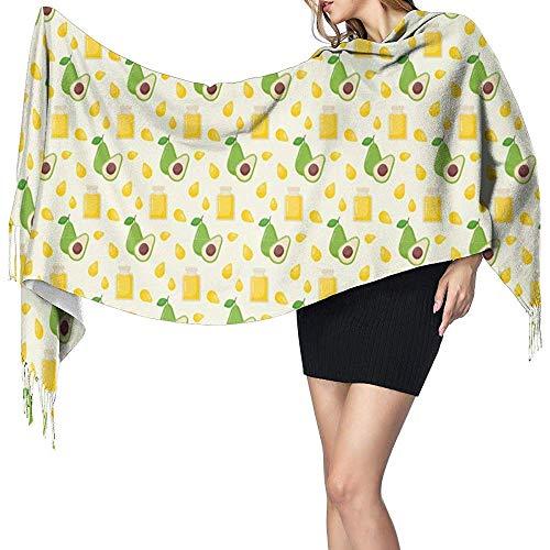 Chal de abrigo de mujer, bufanda Aceite de aguacate Bufandas largas de...