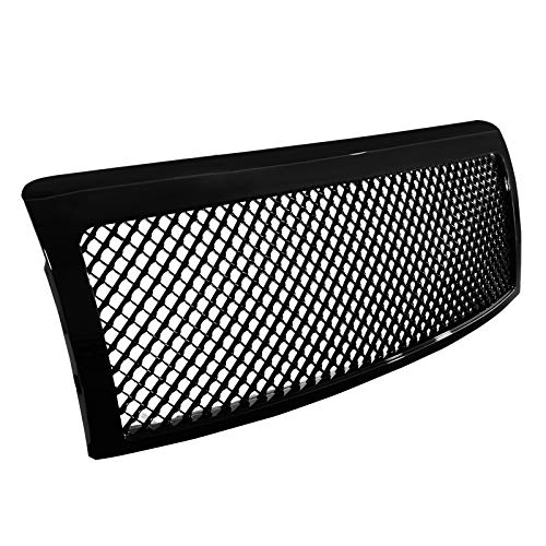 Spec-D Tuning Black ABS Honeycomb Mesh Front Bumper Grille 1PC for 2009-2014 Ford F150