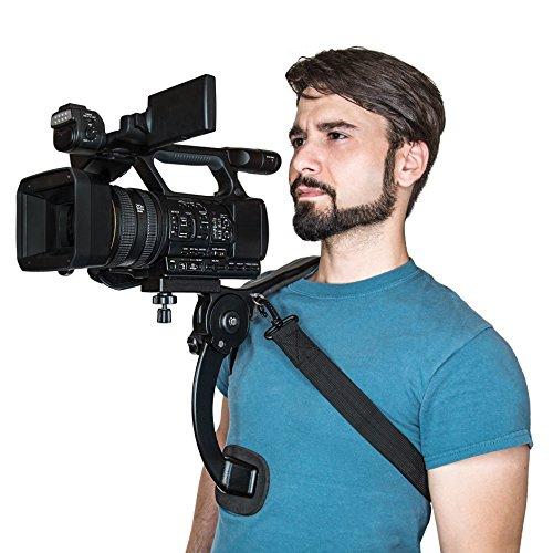 Ultimaxx Shoulder Stabilizer with Compact Design Serving Universal Camcorders/Digital Camera Mount Especially for Canon, Nikon, Sony and Other DSLR Cameras/Video Camcorders