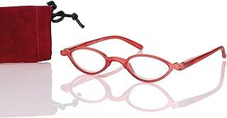 Look and see Designer leesbril + 2,0 diop. rood voor hem en haar flexibele beugel leeshulp