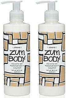 Zum Almond Body Lotion (Pack of 2) with Dandelion, Red Clover, Meadowfoam Seed Oil, Shea Butter, Aloe, Jojoba Oil, Sunflow...