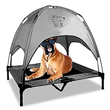 Floppy Dawg Just Chillin  Elevated Dog Bed Medium and Large Size Dog Cots in a Variety of Colors Removable Canopy Used as an Indoor or Outdoor Dog Bed Lightweight and Portable.