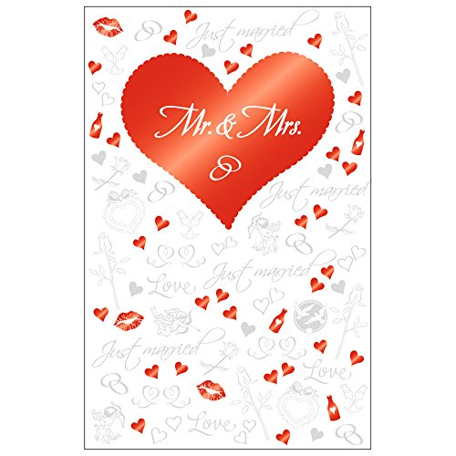 'SUSY CARD 40020006Carte Félicitations Mariage Motif: Mr & Mrs