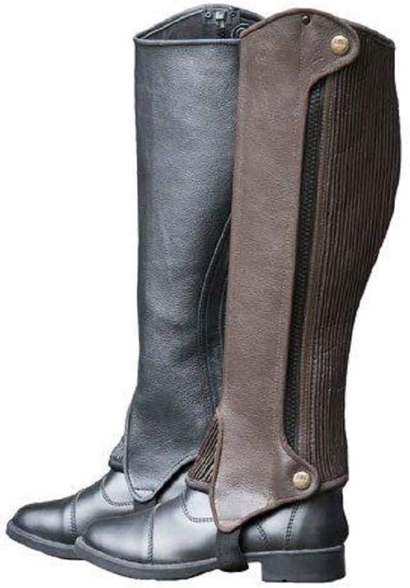 RHC Ladies Deluxe 専門店 Full Chaps Half Leather 売却 Grain
